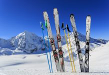 Ski equipments on snow Getty Images/iStockphoto