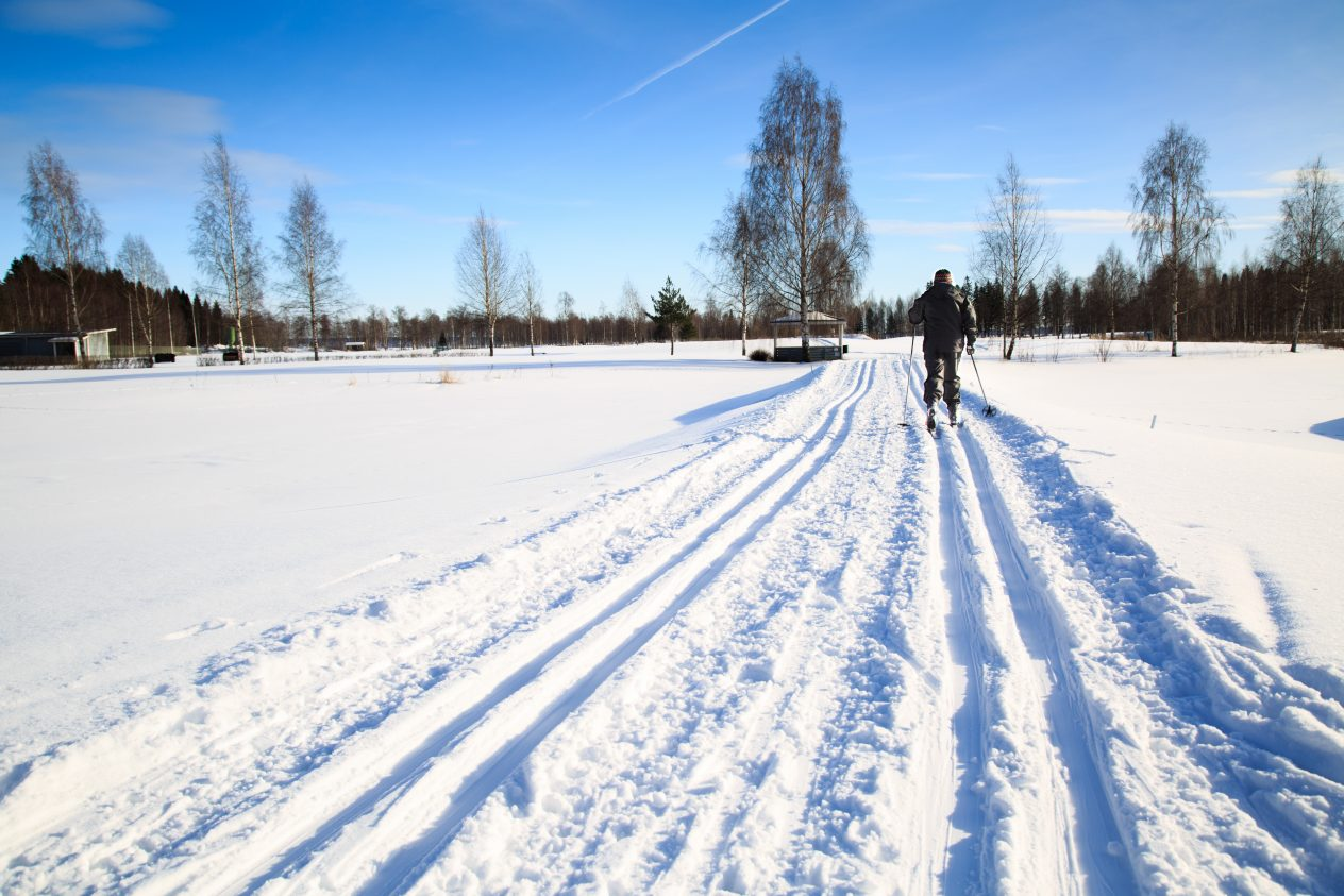 woman exercise by cross country skiing on a golf cource Getty Images/iStockphoto