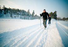 Couple skiing Helena Wahlman